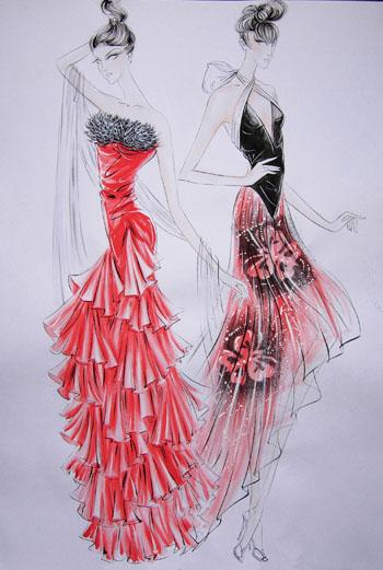 服装设计基本画法展示
