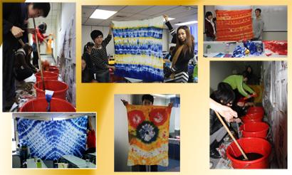 扎染作品1|服装设计学校|深圳华联北京服装学院