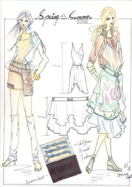 时装效果图2|服装设计学校|深圳华联北京服装学院