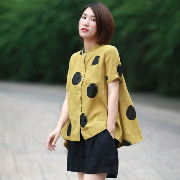 亚麻衫,炎夏清凉穿搭之选5