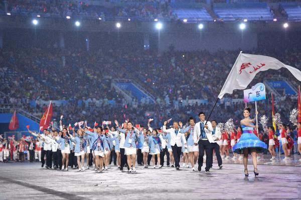 全运会开幕式旗手众星云集 广东团服装获得好评